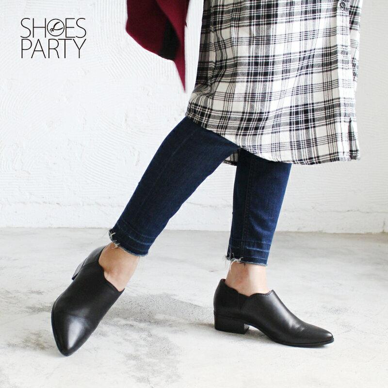 【B2-16130L】鞋口不規則個性踝靴_Shoes Party 1
