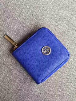Outlet正品代購 Tory Burch TB 馬卡龍多色零錢包 寶藍色 卡片包 證件包 錢包 皮包 有多色