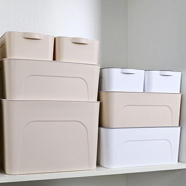 附蓋可疊收納箱四件組 收納箱 換季收納 大容量【JHome+就是家】