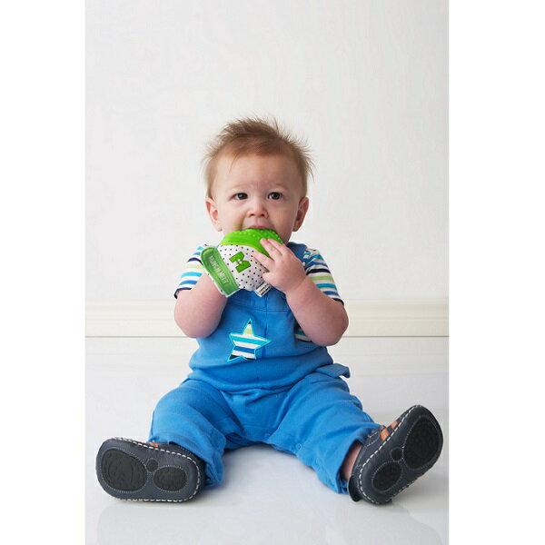 美國【Munch Mitt】手咬樂手套固齒器 (綠色) 3~8個月使用 1
