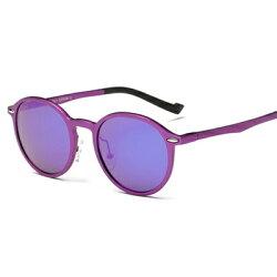 ★太陽眼鏡偏光墨鏡-復古圓框熱銷潮流男女眼鏡2色73nn9【獨家進口】【米蘭精品】