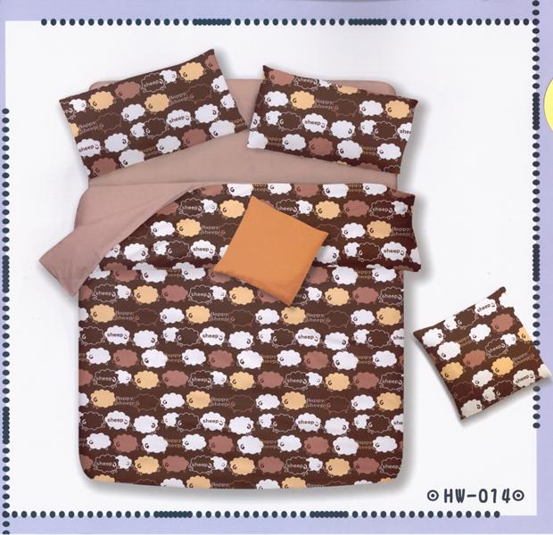 ✧臺灣製✧舒柔棉磨毛超細纖維床包組《HW-0014》5X6.2尺雙人床包組+兩用被 四件組◤彩虹森林◥
