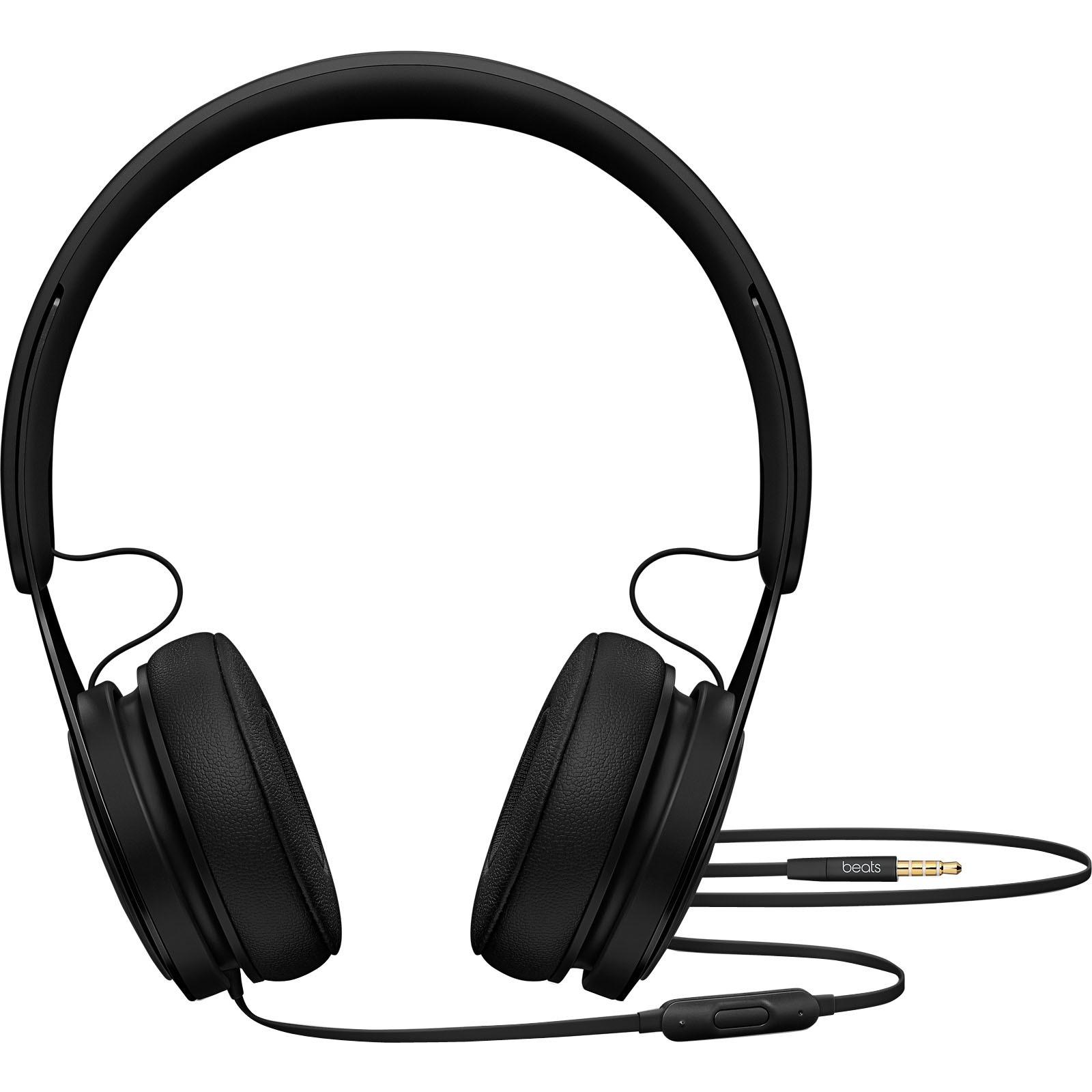 Beats by Dr. Dre EP On-Ear Headphones - Black - Stereo - Black - Mini-phone - Wired - Over-the-head - Binaural - Supra-aural 1