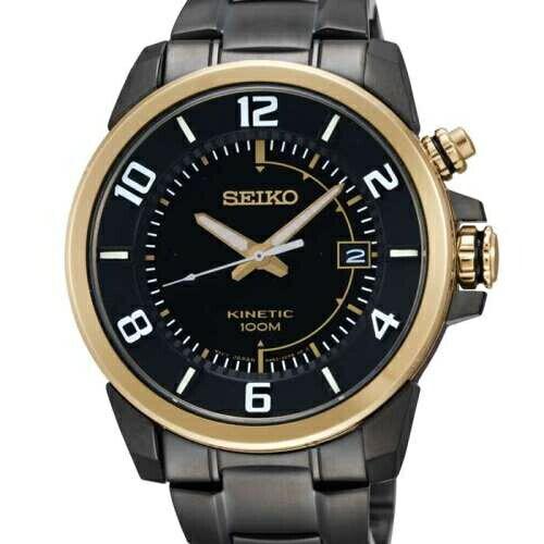 SEIKO人工動能簡約男腕錶黑鋼SKA556P1(5M62-0CY0K)