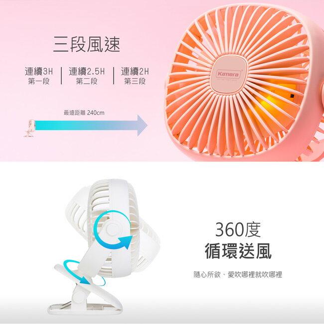 Kamera F140 USB風扇 夾式 / 立放方形風扇(附小夜燈)【和信嘉】佳美能公司貨 保固七日 2