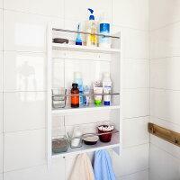 Haotian Wall Shelves,Wall rack,Wall Cabinets ,Wall-Mounted Cabinets ,Storage Racks, Hanging Entryway Shelf,Storage Shelf ,and Coat Rack Wall Shelf with Hooks (FRG33-W)