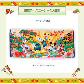 【真愛日本】新年正月彩圖長毛巾 迪士尼樂園限定新年 新品禮盒