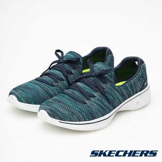 SKECHERS (女) Go Walk 4 針織網布 輕量 避震 健走鞋 - 14919NVTQ 土耳其藍【陽光樂活】
