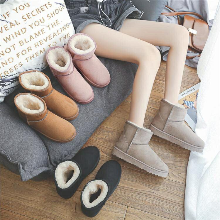 雪靴 雪地靴女冬季新款時尚可愛日系防水防滑加絨加厚保暖棉鞋短靴
