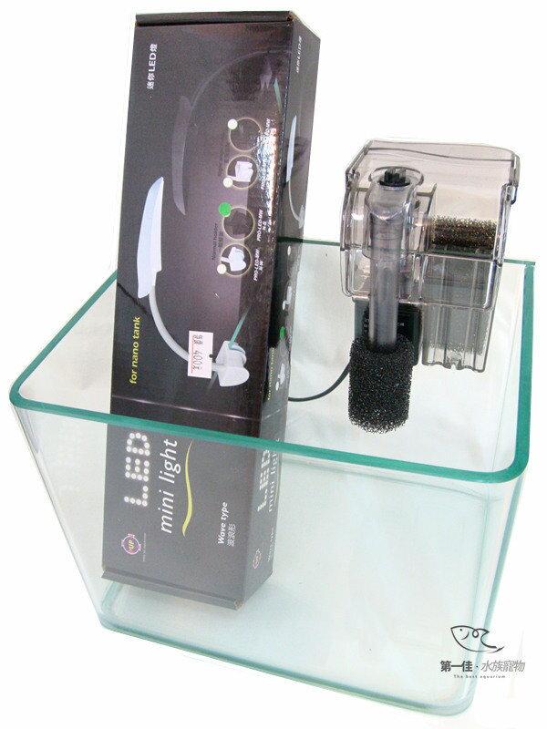 [第一佳 水族寵物] 超值套缸組 魚缸+雅柏UP Mini-Light LED 波浪造型夾燈+外掛過濾器