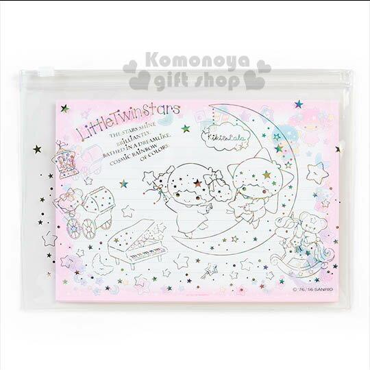 〔小禮堂〕雙子星 日製附袋信紙組~粉.月亮.鋼琴.小熊~夢幻系列