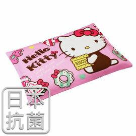 枕頭 兒童枕~kitty抗菌乳膠枕 精梳棉 繽紛甜心 美國棉 品牌^~鴻宇^~ 製~HK2