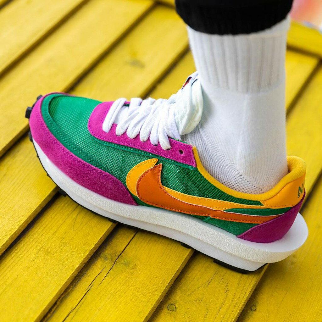 IMPACT Sacai x Nike LDWaffle Pine Green 粉 綠 黃 解構鞋 BV0073-301