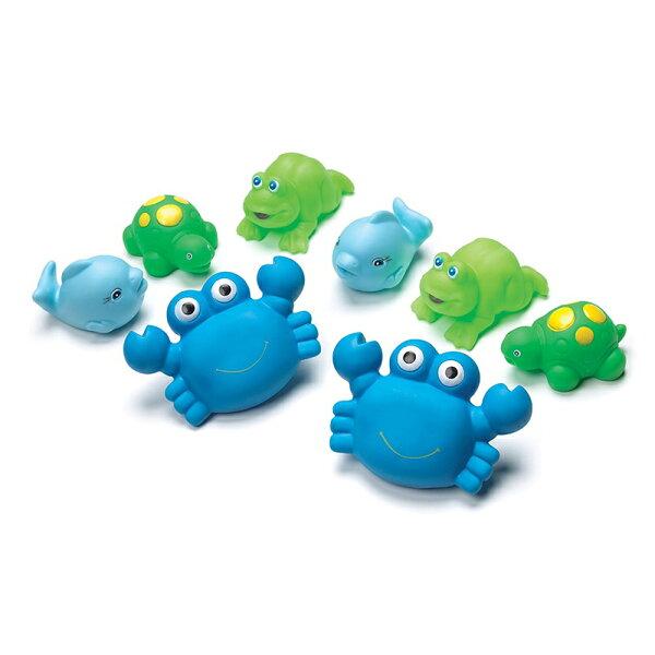 Playgro培高-軟膠洗澡玩具組藍色海洋