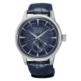 Seiko精工錶Presage 4R57-00H0B(SSA361J1))雞尾酒系列動力儲存顯示機械錶/藍面40.5mm