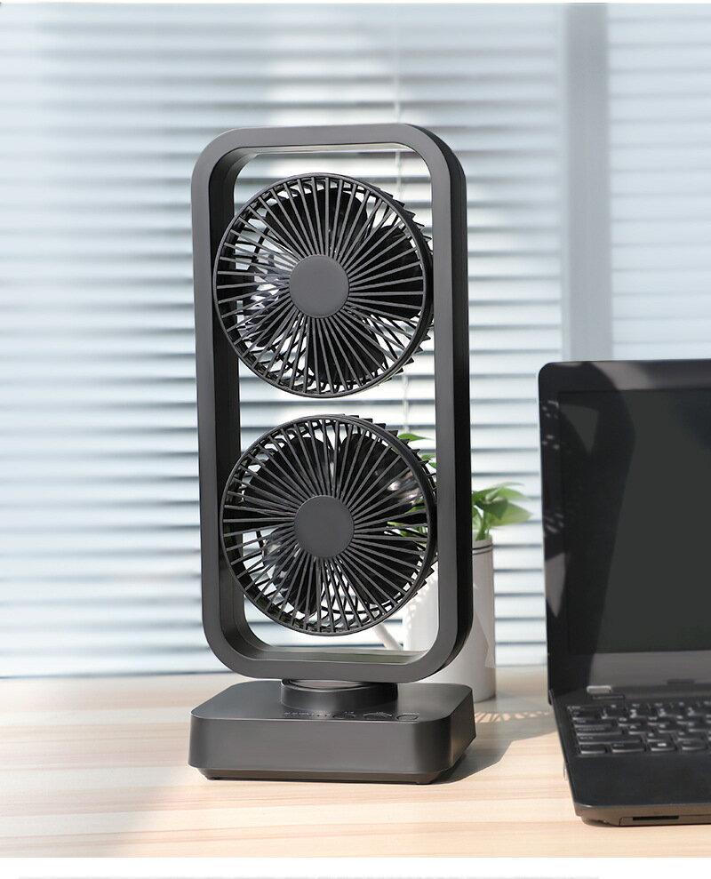 新款 戶外露營USB風扇 雙層扇摇头10000mAh大容量 10W2A快充 風扇 0