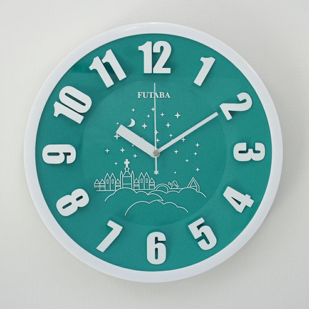 FUTABA-0718 時尚教堂3D立體凸字掛鐘 2