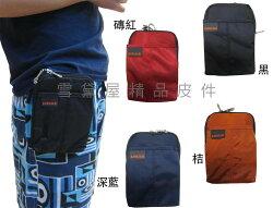 ~雪黛屋~KAWASAKI 腰包5.5吋手機超無敵耐用外掛腰包PDA袋台灣製造品質保證高單數防水尼龍布材質HKA157