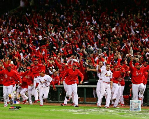 The St Louis Cardinals Celebrate Winning Game 6 of the 2011 MLB World Series Photo Print (16 x 20) ee63d3d6cd9021ec3268794a1a8ceab4