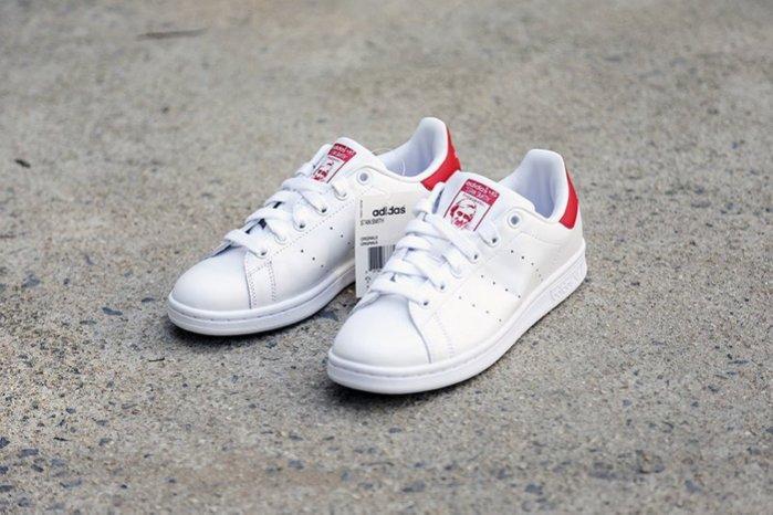 Adidas Originals Stan Smith 史密斯紅尾白紅