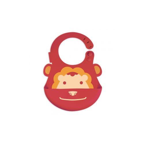 加拿大 MARCUS  MARCUS 動物樂園矽膠立體圍兜-獅子★愛兒麗婦幼用品★