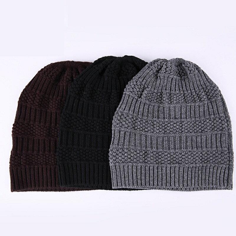 毛帽羊毛針織帽-純色休閒保暖護耳男帽子3色73wj49【獨家進口】【米蘭精品】 2
