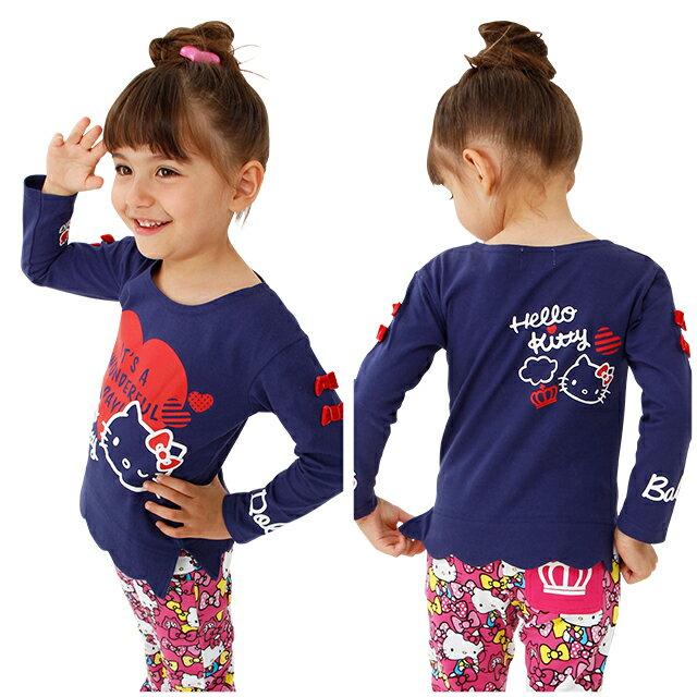 日本BABYDOLL 三麗鷗Hello Kitty兒童長袖上衣/CBT-25310482。2色(2592)-日本必買代購/日本樂天