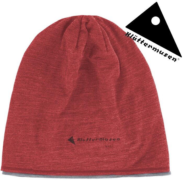 Klattermusen 攀山鼠/瑞典攀登鼠 Eir 美麗諾羊毛+絲保暖毛帽 KM51175U81 黯夜紫迷霧灰
