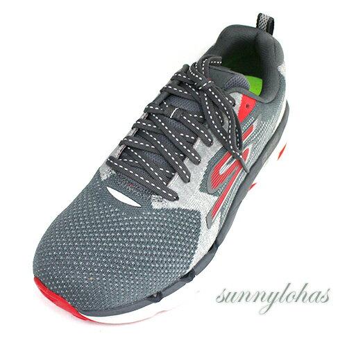 SKECHERS(男)GORUNMAXROAD3ULTRA輕量慢跑鞋運動鞋-55208CCRD灰紅[陽光樂活]