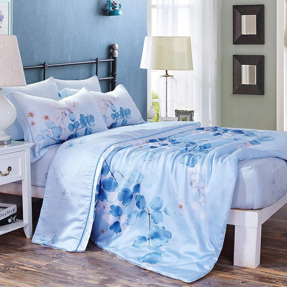 Lily Royal 天絲 陽光旅行(藍) 雙人六件式兩用被床罩組/ 哇哇購