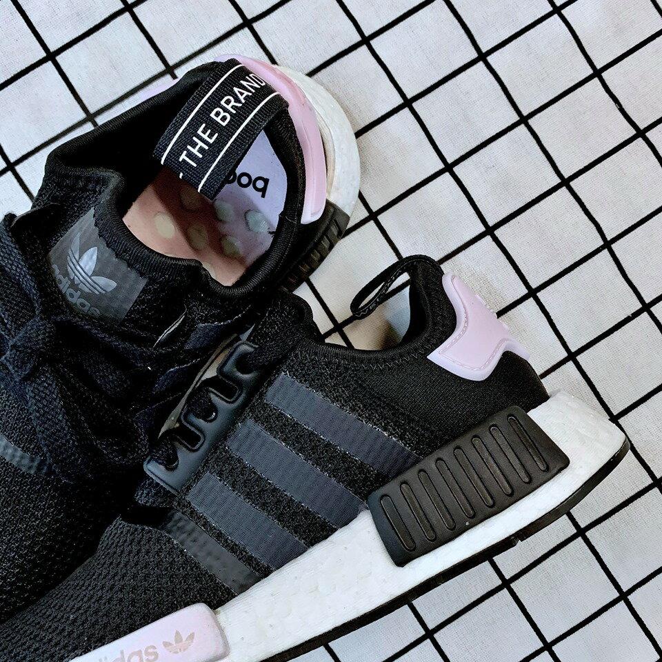 免運🚗-DTK-實體店面🎖現貨 Adidas Original NMD_r1 黑白粉尾 黑粉配色B37649 3