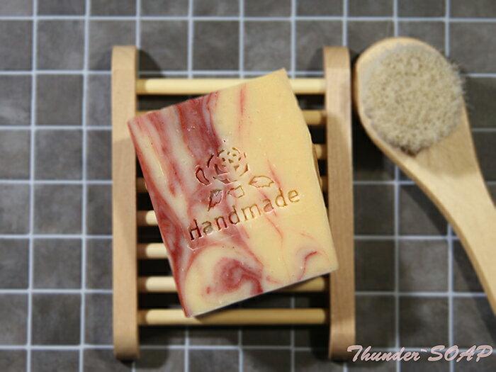 *蕾爸工坊* 玫瑰滋潤皂 手工皂/冷製皂/冷壓初榨橄欖油/沐浴乳/洗面乳 110g±5%
