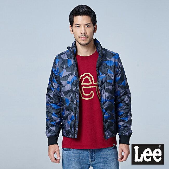 Lee  HEAT迷彩印花舖棉外套-男款-藍 0