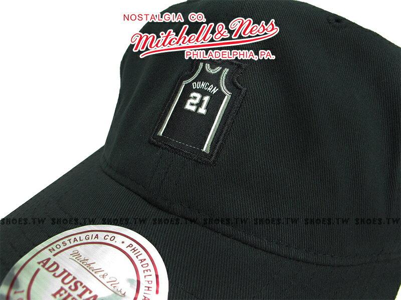 《下殺6折》Shoestw【5056133900248】Mitchell & Ness 老帽 SNAPBACK 馬刺隊 球衣 黑色 1