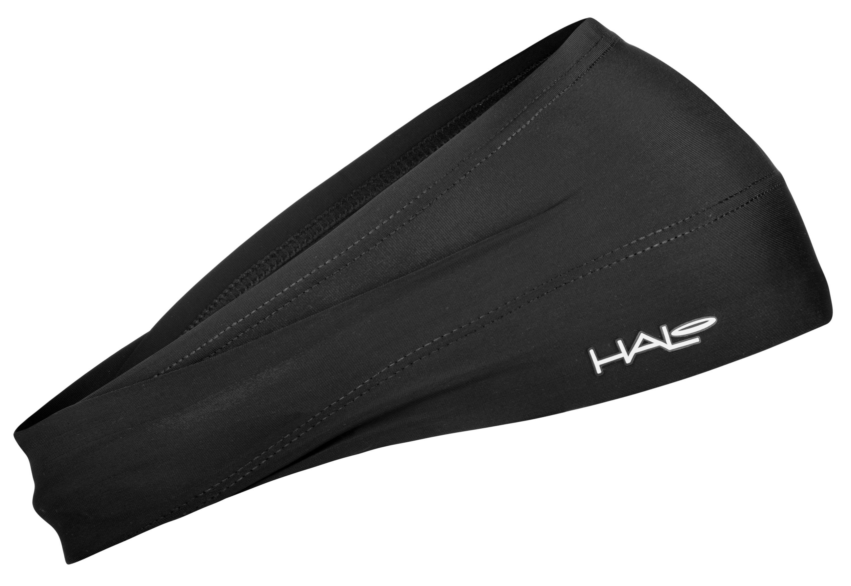 汗樂(HALO BANDIT)超寬版套頭式頭帶-黑色,由額頭10公分,逐漸往後窄至4公分,六款花色造型,塑造個人風格
