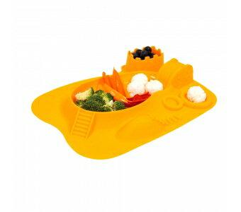 加拿大 MARCUS  MARCUS 動物樂園遊樂 餐盤-長頸鹿(黃)★愛兒麗婦幼用品★