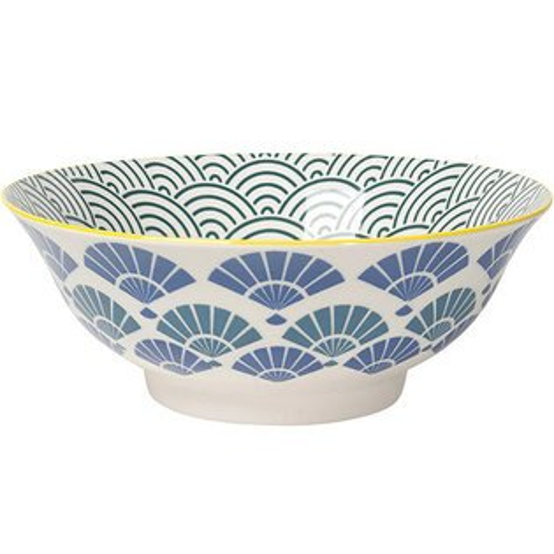 《NOW》圖騰餐碗(摺扇藍)