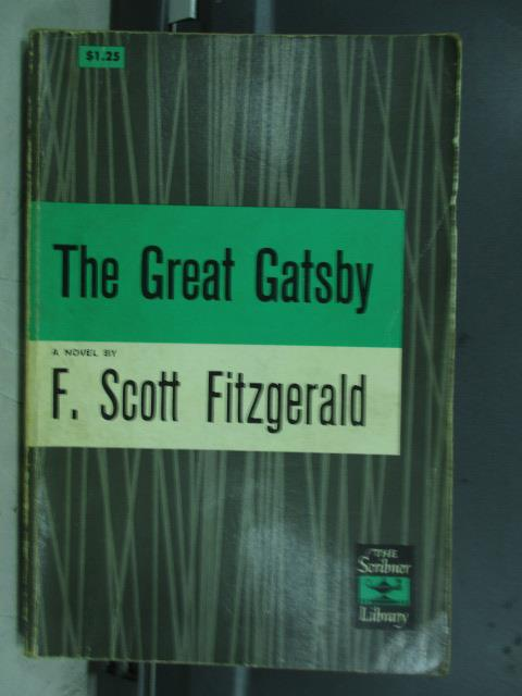 【書寶二手書T8/原文小說_JRK】The great gatsby_F.Scott fitzgerald