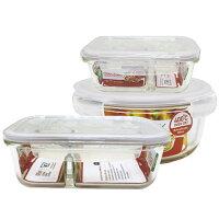 野餐盒不可缺單品推薦到樂扣樂扣耐熱分隔玻璃保鮮盒美味便當盒三件組野餐盒-大廚師百貨就在大廚師百貨推薦野餐盒不可缺單品