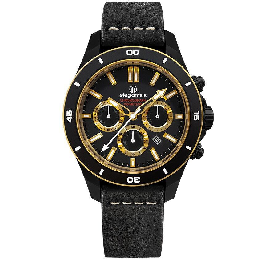 ELEGANTSIS 計時碼表石英錶(ELJT65R-6G02LC ) - 限時優惠好康折扣