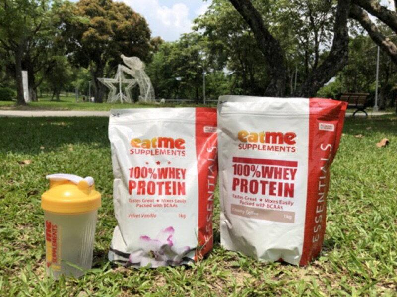 台灣經銷 EatMe 乳清蛋白 1公斤 經紐西蘭農業部檢驗出口,好溶解、奶味濃、不死甜,附發票,紙箱寄送