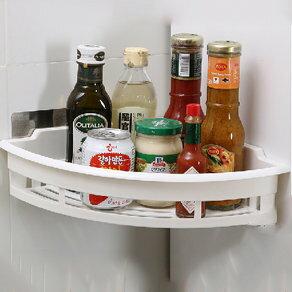90度轉角衛浴/廚房用品置物架-無痕貼式 調味料收納架 衛浴收納架【SV7797】快樂生活網