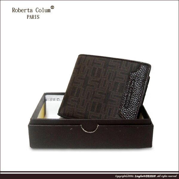 ~Roberta Colum~諾貝達 雅痞幾何系列 可拆左右翻短夾RM~28705