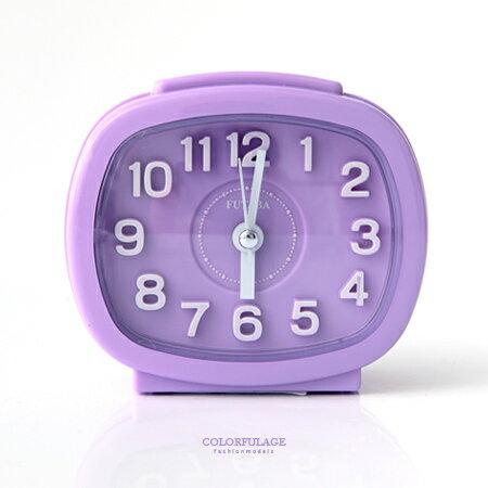 鬧鐘 馬卡龍粉嫩色系方型立體數字桌鐘鬧鍾 MIT  居家美學 柒彩年代~NV4~擺設小物