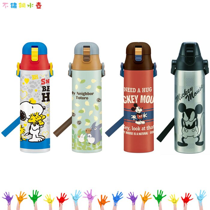 迪士尼 米奇 史努比 宮崎駿 龍貓 超輕量 不鏽鋼 水壺 保溫瓶 保溫杯 日本進口正版