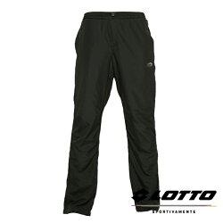 義大利第一品牌-LOTTO樂得 女款保暖2級升溫防潑水刷毛長褲 [1220] 黑【巷子屋】