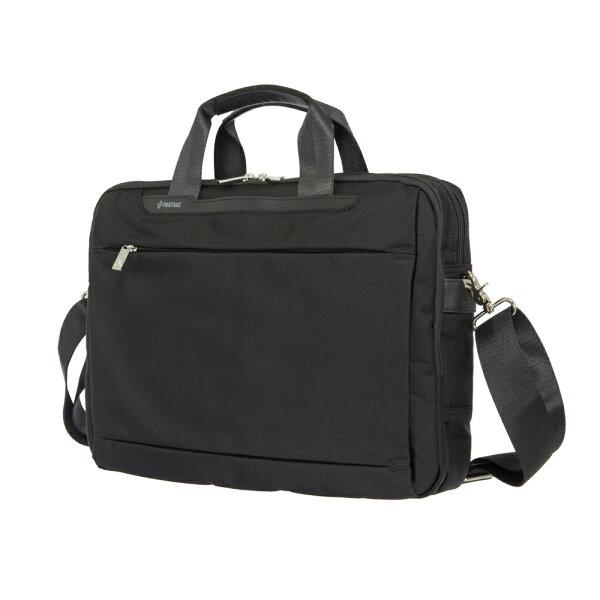 【加賀皮件】PARTAKED1系列可插拉桿15吋簡約黑色手提包側背包筆電包商務包公事包D1-77