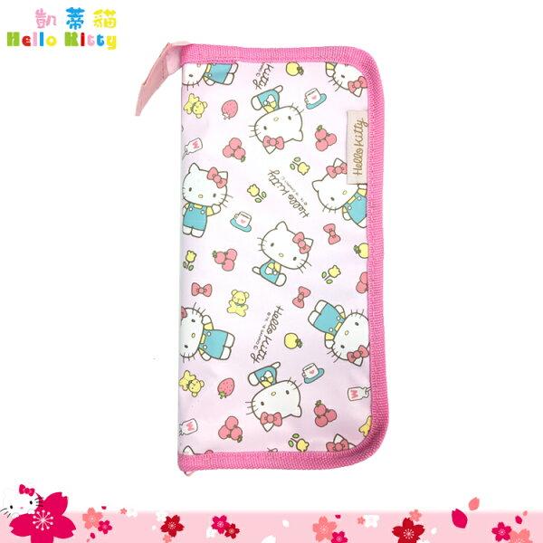 三麗鷗HelloKitty凱蒂貓嬰幼兒餐具收納袋餐具收納包小物包粉色日本進口正版359286