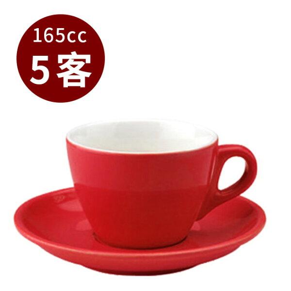 金時代書香咖啡TIAMO13號咖啡杯盤組5客165cc紅HG0756R