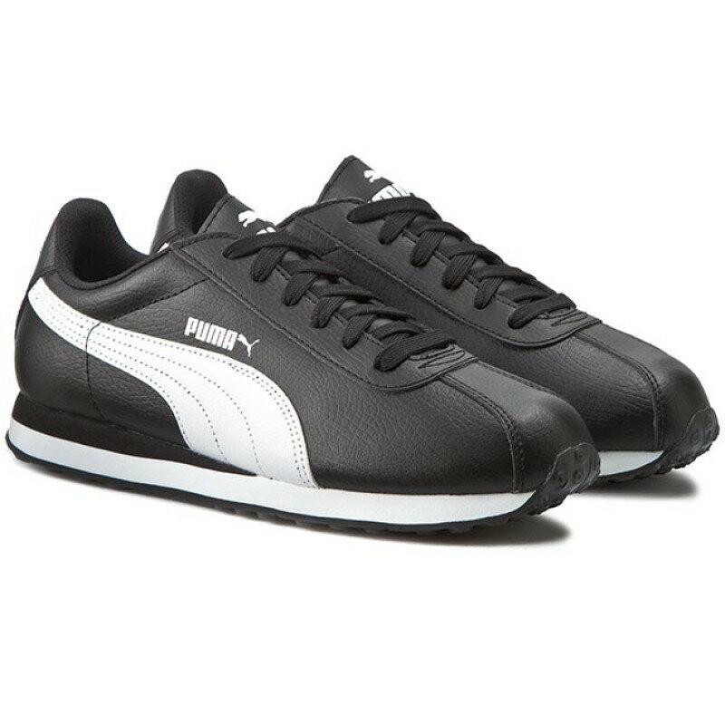 Puma Turin 男鞋 慢跑 休閒 基本款 皮革 黑 白【運動世界】 36011601